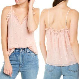 New w tags Rebecca Taylor Pink Silk Clip Cami Sz6